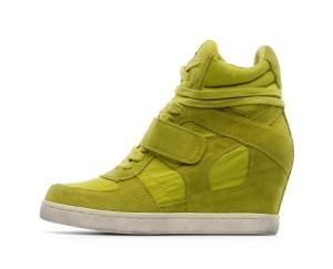 Yellow-Ash-Cool-Wedge-Trainers-High-Top-Sneakers